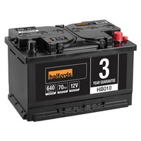 Halfords Lead Acid Battery HB010 - 3 Yr Guarantee