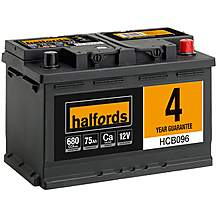 image of Halfords 4 Year Guarantee HCB096 Calcium 12V Car Battery