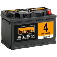 Halfords Calcium Battery HCB096 - 4 Yr Guarantee