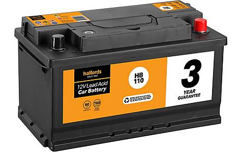 image of Halfords Lead Acid Battery HB110 - 3 Yr Guarantee