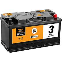image of Halfords 3 Year Guarantee HB019 Lead Acid 12V Car Battery