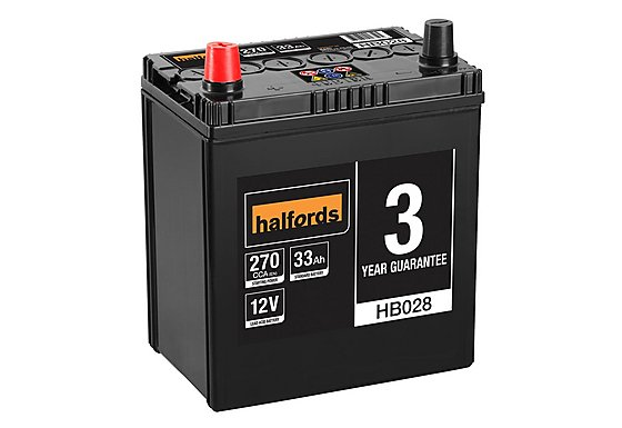 Halfords Lead Acid Battery HB028 - 3 Yr Guarantee
