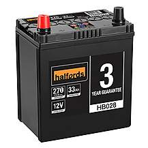 image of Halfords 3 Year Guarantee HB028 Lead Acid 12V Car Battery