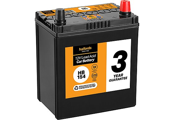 Halfords Lead Acid Battery HB154 - 3 Yr Guarantee