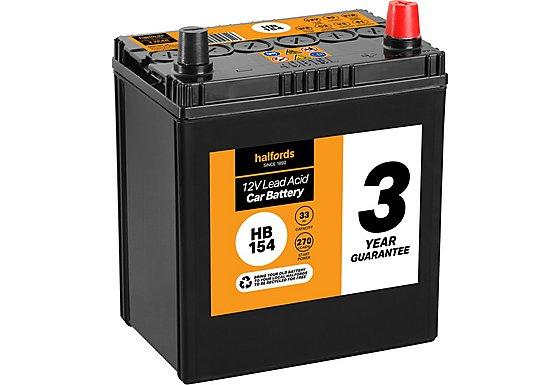 Halfords Lead Acid Battery HB154 - 3 Yr Guarantee