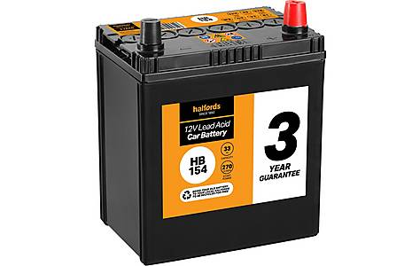 image of Halfords Lead Acid Battery HB154 - 3 Yr Guarantee