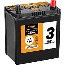 Halfords 3 Year Guarantee HB154 Lead Acid 12V