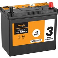 Halfords Lead Acid Battery HB053 - 3 Yr Guarantee