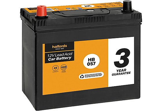 Halfords Lead Acid Battery HB057 - 3 Yr Guarantee