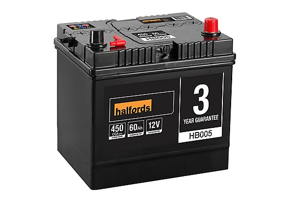 Halfords Lead Acid Battery HB005 - 3 Yr Guarantee