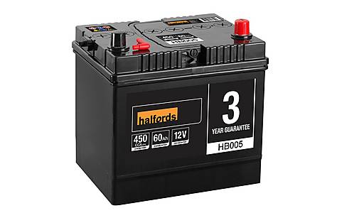 image of Halfords Lead Acid Battery HB005 - 3 Yr Guarantee