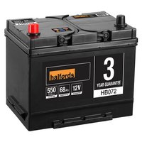 Halfords Lead Acid Battery HB072 - 3 Yr Guarantee