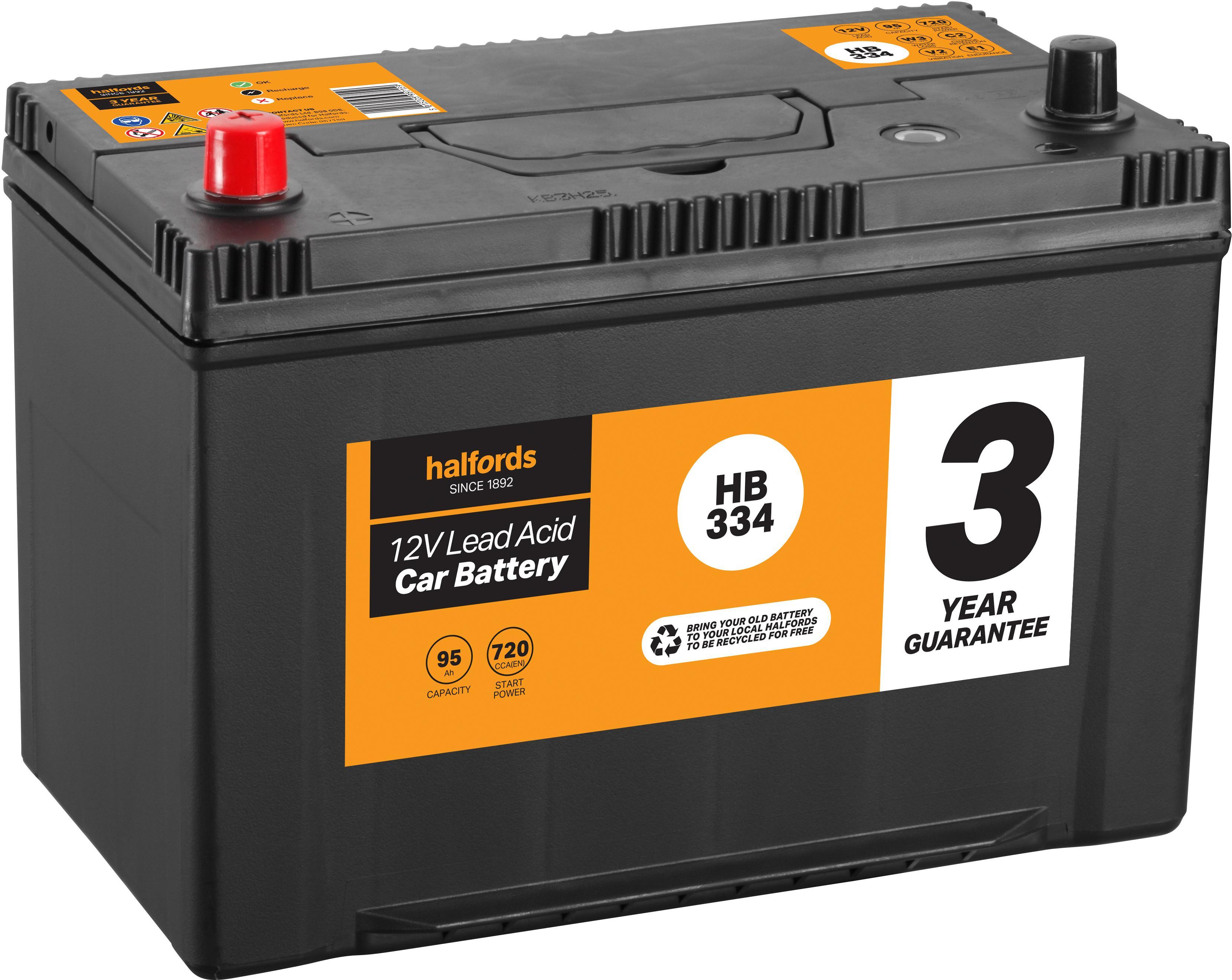 Titanium 334 Car Van Battery 12V 91Ah 740CCA - Fast & Free Delivery