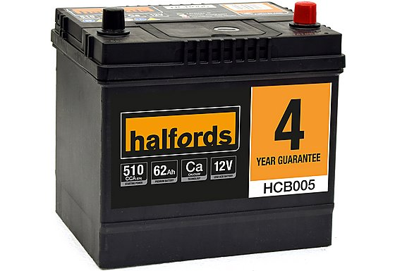 Halfords Calcium Battery HCB005- 4 Yr Guarantee