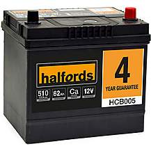 image of Halfords 4 Year Guarantee HCB005 Calcium 12V Car Battery