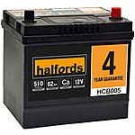 image of Halfords Calcium Battery HCB005- 4 Yr Guarantee