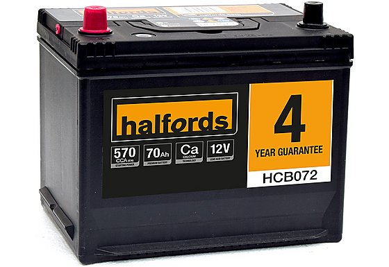 Halfords Calcium Battery HCB072- 4 Yr Guarantee