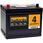 image of Halfords Calcium Battery HCB072- 4 Yr Guarantee
