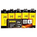 image of Halfords 9v Battery 5 Pack