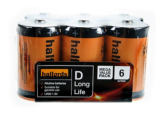Halfords D x 6 Battery Pack