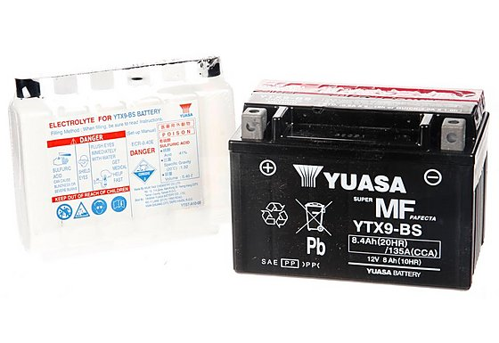 Yuasa YTX9-BS Powersport Motorcycle Battery