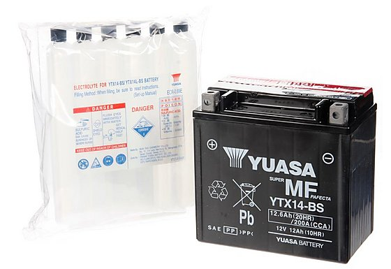 Yuasa YTX14-BS Powersport Motorcycle Battery