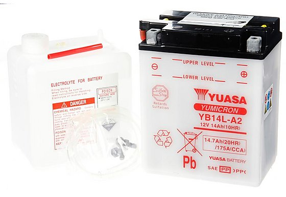 Yuasa YB14L-A2 Powersport Motorcycle Battery