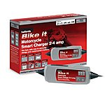 image of Halfords Bike it Motorcycle Smart Charger 2-4 Amp