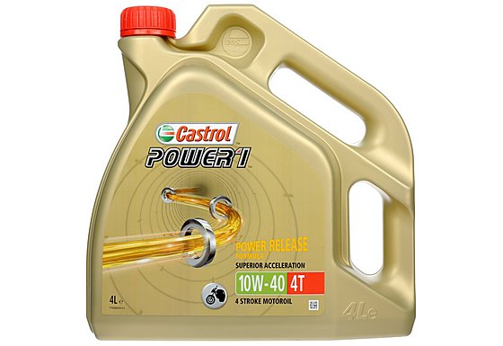 Castrol Power 1 4T 10W/40 Motorcycle Engine Oil - 4ltr