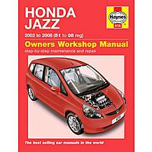 image of Haynes Honda Jazz (02 - 08) Manual