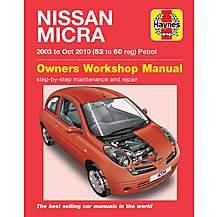 image of Haynes Nissan Micra (03 - Sept 07) Manual
