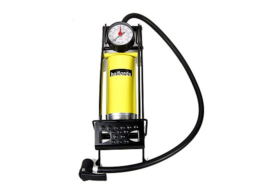 Halfords Metal Barrel Foot Pump & Gauge
