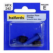 image of Halfords Number Plate Fixings HFX242