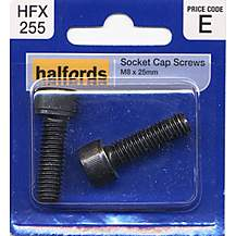 image of Halfords Socket Cap Screws M8 x 25mm HFX255