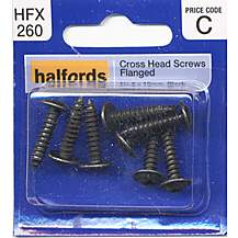 image of Halfords Cross Head Screws - Flanged No8 x 19mm HFX260