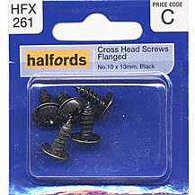 image of Halfords Cross Head Screws Flanged No10x13mm HFX261