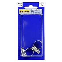image of Halfords Stainless Steel Hose Clips 9.5-12mm and 11-16mm HFX380