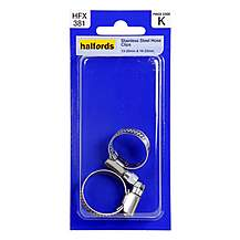 image of Halfords Stainless Steel Hose Clips HFX381