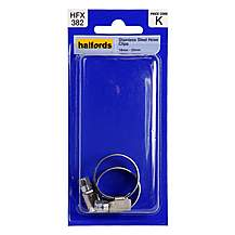 image of Halfords Stainless Steel Hose Clips 18-25mm HFX382