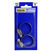 image of Halfords Hose Clips Stainless Steel 22-30mm HFX383