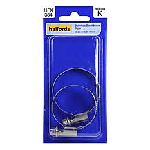 image of Halfords Stainless Steel Hose Clips HFX384