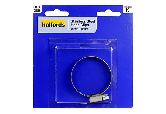 Halfords Stainless Steel Hose Clip 35-50mm HFX385