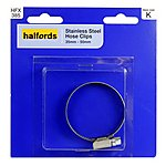 image of Halfords Stainless Steel Hose Clip 35-50mm HFX385