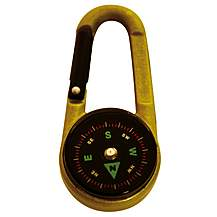 image of 3in1 Karabiner, Compass & Thermometer