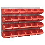 Sealey Bin & Panel Combination 24 Bins - Red