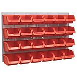 Sealey Bin & Panel Combination 24 Bins - Red