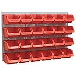 image of Sealey Bin & Panel Combination 24 Bins - Red