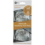 image of GE 448 H1 Long Life Headlamp Bulb x 2