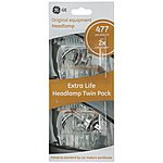 image of GE 477 H7 Long Life Headlamp Bulb x 2