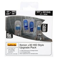 Halfords Xenon HID Style 4400K +30 percent 477 Upgrade Pack